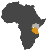 small MAP TANZANIA