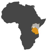 small MAP TANZANIA